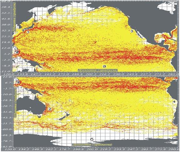 полушарий Тихого океана.